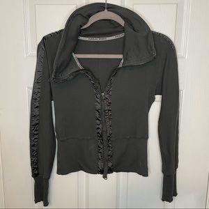 Marc Cain Sports Dark Grey/Green Zip Up Sweater